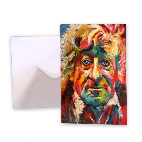 Dr Who 3 John Pertwee Greeting Card