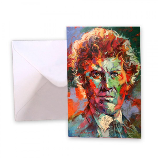 Dr Who 6 Colin Baker Greeting Card