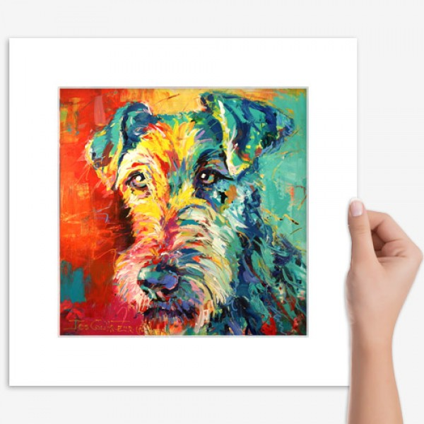 Print Irish Terrier