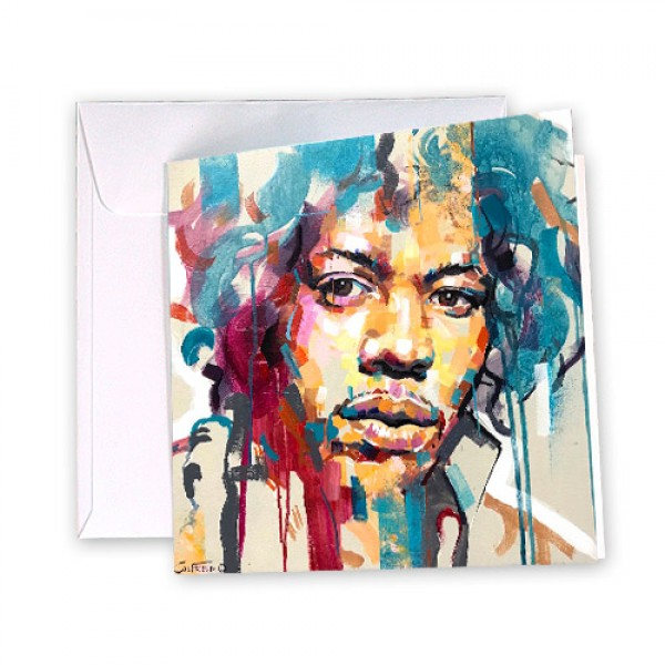 Jimi Hendrix 8 Greeting Card